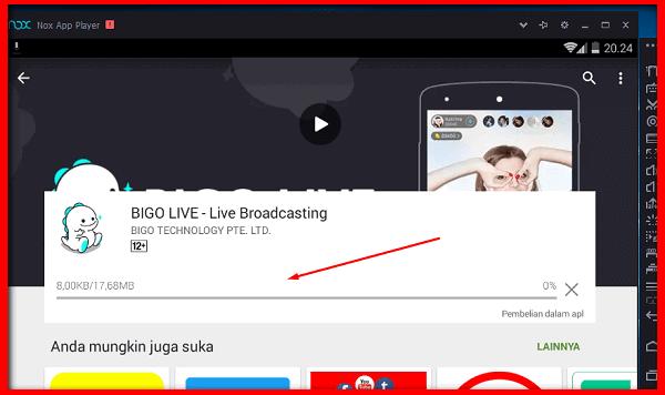 Bigo Live for PC Using NOX Android Emulator